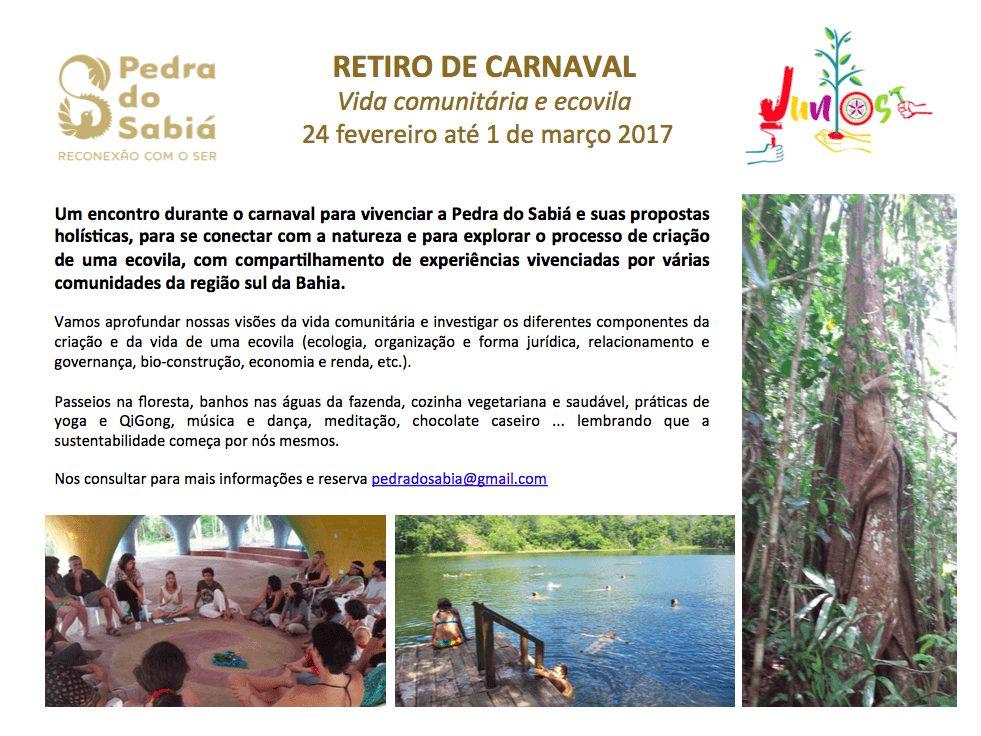Retiro de Carnaval Vida comunitária e Ecovila