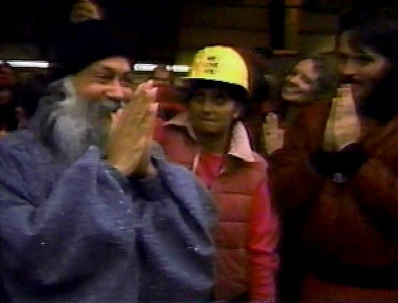 Rajneesh com Sheela no Oregon