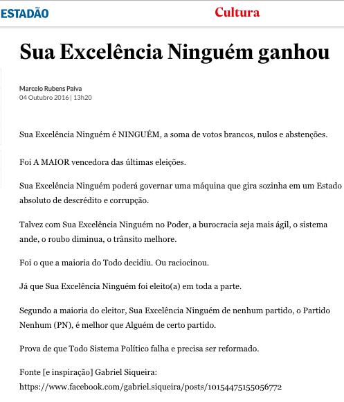 Marcelo Rubens Paiva NINGUÉM