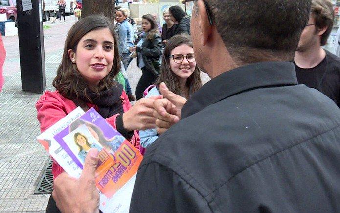 Tábata Amaral, de apenas 24 anos, foi a 6a deputada federal mais votada em São Paulo.